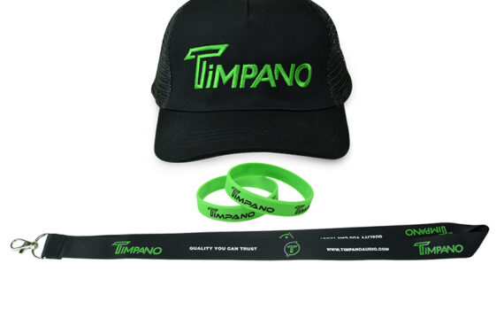 Timpano Hat+Green Bracelet+Lanyard+Sticker