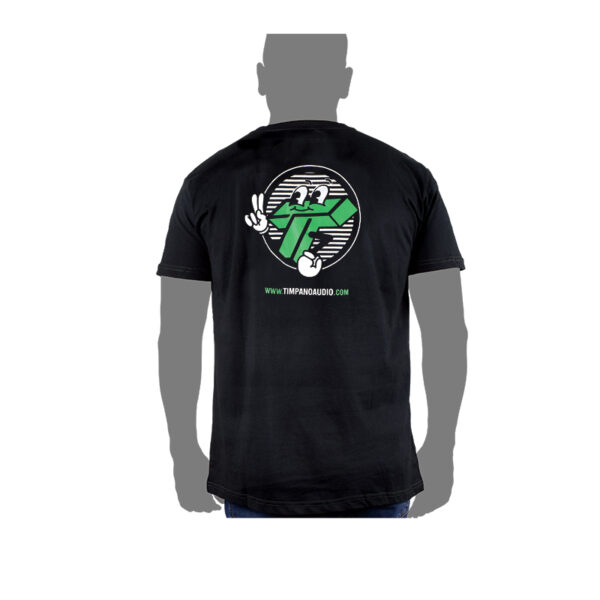 Mr T, circle design back - Black shirt