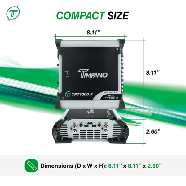 TPT-1000.4 - 2 Ohms - Compact Size